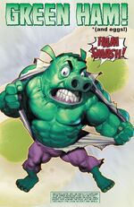 Green Ham from Ultimate Civil War Spider-Ham Vol 1 1 0001