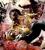 Luke Cage (Earth-10245) vs the Hand (Earth-10245) from What If Daredevil Vs. Elektra Vol 1 1 0001