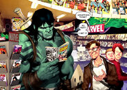Skaar (Earth-616) and Bruce Banner (Earth-616) from Incredible Hulk Vol 1 602 0001