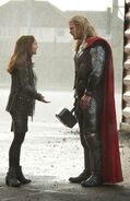 Thor Odinson (Earth-199999) and Jane Foster (Earth-199999) from Thor The Dark World 0001
