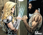 Reine du Rien (Earth-TRN758) and James Howlett (Earth-TRN758) from Marvel Comics Presents Vol 3 7 001
