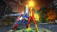 Veranke (Earth-TRN219) and Steven Rogers (Earth-TRN219) from Marvel Avengers Battle for Earth 0001