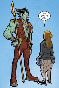 Gib (Earth-616) and Chase Stein (Earth-616) from Runaways Vol 5 14 001