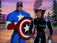 Wolverine (Logan) (Earth-92131) and Steven Rogers (Earth-92131) from X-Men The Animated Series Season 5 11 005