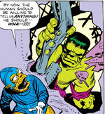 Bruce Banner (Earth-616) and Tribbitites from Incredible Hulk Vol 1 2 0001