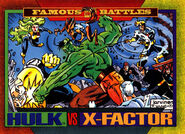 Bruce Banner (Earth-616) and X-Factor (Earth-616) from Marvel Universe Cards Series IV 0001
