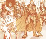 Norrin Radd (Earth-11127) and Omega Council (Multiverse) from Defenders Vol 4 11 001