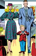 Reed, Sue and Franklin Richards (Earth-616) leave the Fantastic Four from Fantastic Four Vol 1 307