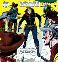 Phantom Raiders (Earth-616) and Clay Harder (Earth-616) from Wild West Vol 1 1 Cover
