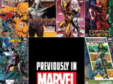 Previously in Marvel Comics Vol 1 1