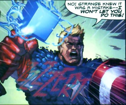Captain America Lift Mjolnir Comic