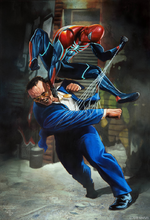 Joseph Martello (Earth-1048) and Spider-Man (Earth-1048) from Marvel's Spider-Man (video game)