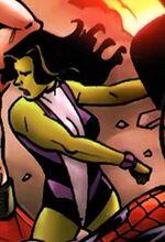 Jennifer Walters (Earth-7231) from Ultimate Civil War Spider-Ham Vol 1 1 0001