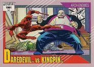Matthew Murdock vs. Wilson Fisk (Earth-616) from Marvel Universe Cards Series II 0001