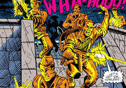 Nick Fury and the Howling Commandos attacking Baskerville Castle circa 1943 from Doctor Strange Vol 2 51