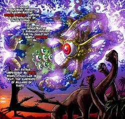 Quoggoth (Earth-616) vs. Shuma-Gorath (Multiverse) from Wolverine First Class Vol 1 12 001