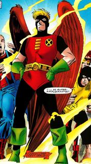 Warren Worthington III (Earth-616) as Redwing from Unlimited Access Vol 1 3