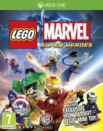 LEGO Marvel Super Heroes box art and James Rhodes (Earth-13122)