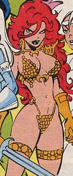 Red Sonja (Earth-TRN708) from Silver Sable and the Wild Pack Vol 1 35 0001