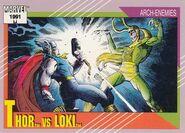 Thor Odinson vs. Loki Laufeyson (Earth-616) from Marvel Universe Cards Series II 0001