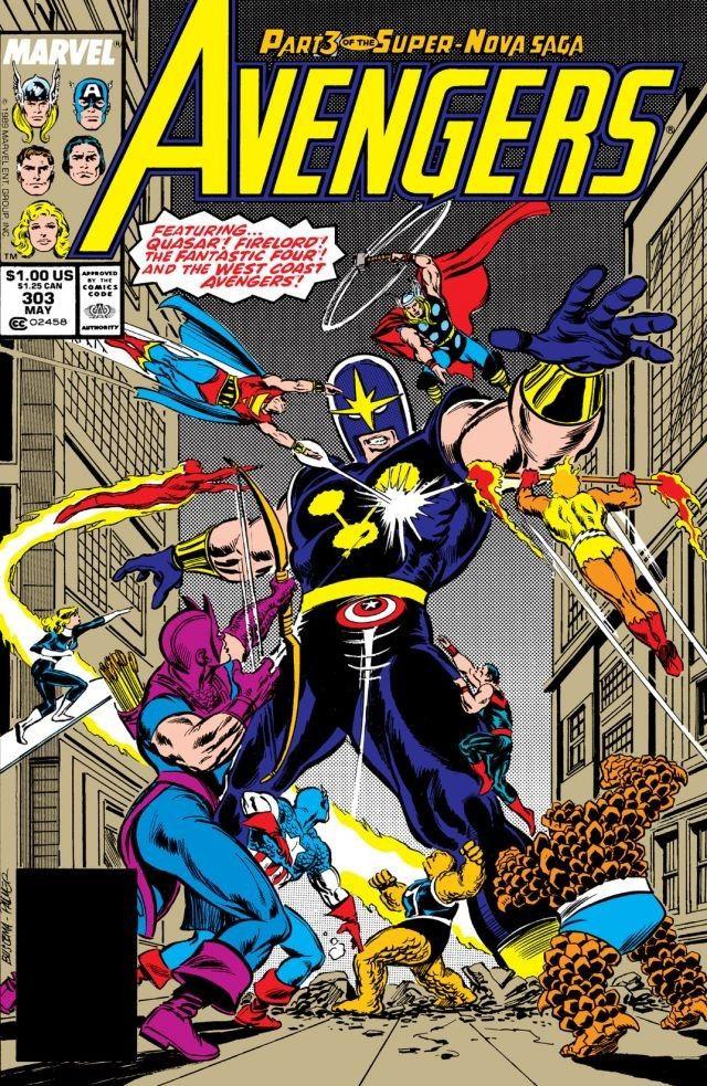 The Avengers 1989 Ralph Macchio /& Rich Buckler Vol.1 No.302