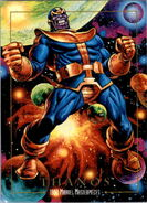 Thanos (Earth-616) from Marvel Masterpieces Trading Cards 1992 0001