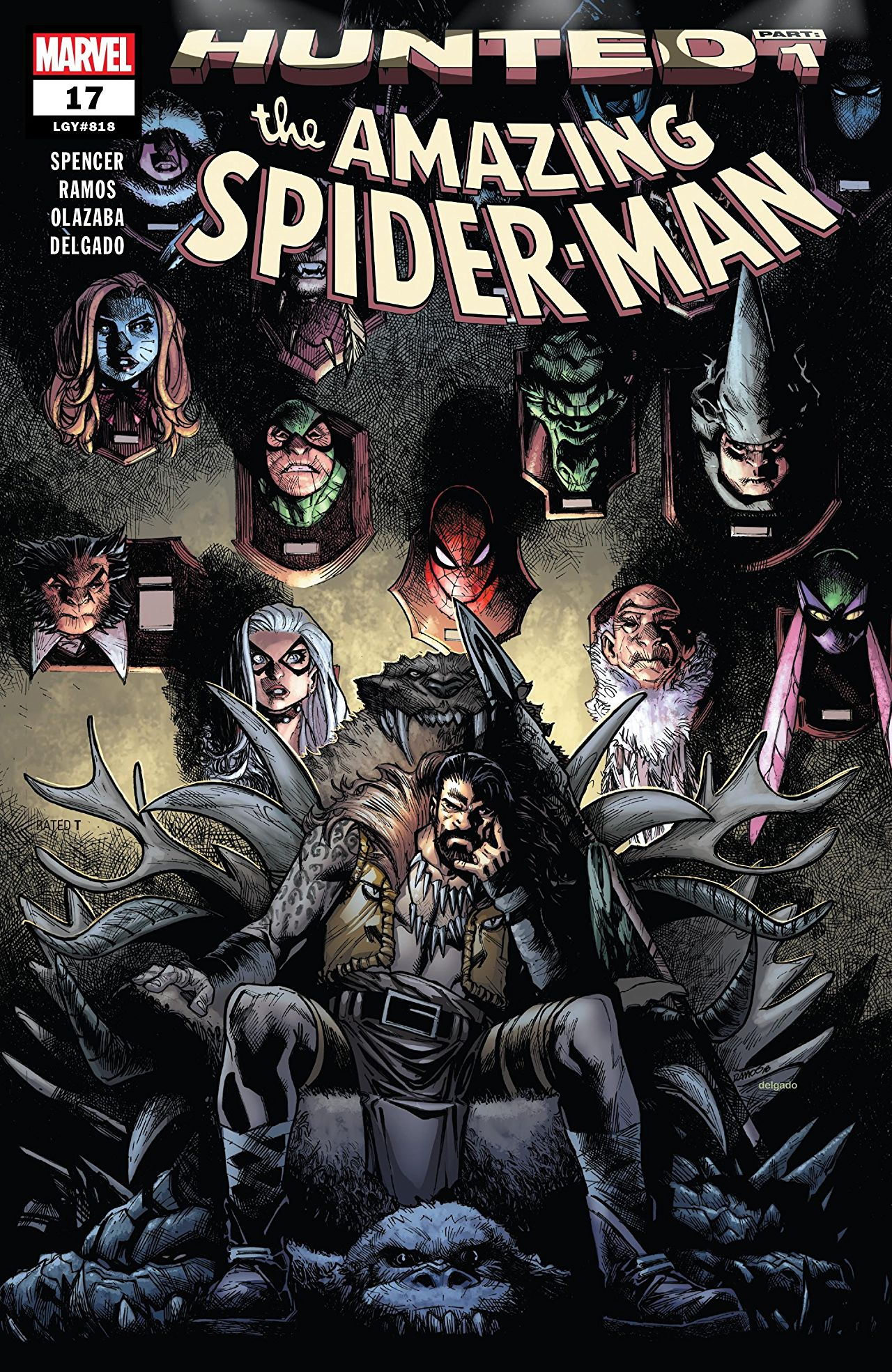 Image result for Amazing spiderman #17 Hunted cover