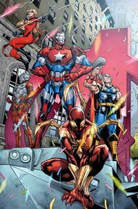 Mighty Avengers (Initiative) (Earth-TRN619) from Contest of Champions Vol 1 9 001