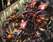 Anthony Stark (Earth-616), Bruce Banner (Earth-616), Iron Man Armor Model 26 MK I, Iron Man Armor Model 26 MK II from Incredible Hulk Vol 2 72 001