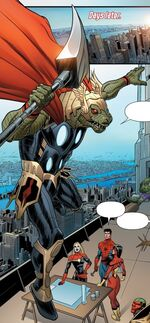 Dino-Thor (Earth-23134) from Spider-Island Vol 1 5 001