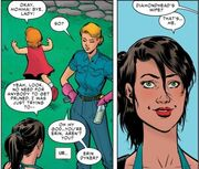 Jessica Drew (Earth-616), Olivia Gocking (Earth-616), and Kalie Gocking (Earth-616) from Spider-Woman Vol 5 7 001