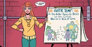 Patricia Walker (Earth-616) and Patsy Walker Temp Agency (Earth-616) from Patsy Walker, A.K.A. Hellcat! Vol 1 1