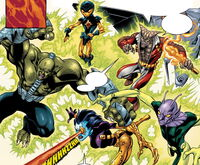 Sandorr's Hunters (Earth-616) from Fantastic Four Vol 3 51 0001