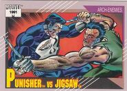 Frank Castle vs. Billy Russo (Earth-616) from Marvel Universe Cards Series II 0001