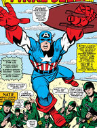 Steve Rogers (Earth-616) Captain America crashed NATO headquarters in Europe from Tales of Suspense Vol 1 74