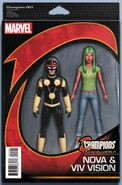 Champions Vol 2 1 Marvel NOW! Action Figure Variant
