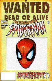 Sensational Spider-Man Vol 1 25 Wanted Poster Variant