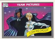 Cloak and Dagger (Earth-616) from Marvel Universe Cards Series I 0001