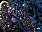 Intelligencia (Earth-61112), Super-Apes (Earth-61112), and Jessica Drew (Earth-61112) from Avengers Vol 4 12.1 0002