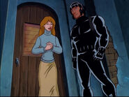 Justine Cocteau (Earth-92131) and Wolverine (Logan) (Earth-92131) from X-Men The Animated Series Season 5 11 001