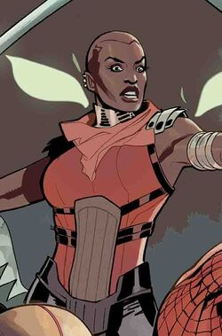 Okoye (Earth-616) from Amazing Spider-Man Wakanda Forever Vol 1 1 cover 001