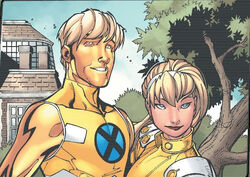 Joshua Foley (Earth-616) and Laurie Collins (Earth-616) from New X-Men Vol 2 24 0002