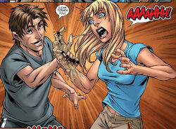 Kevin Ford (Earth-616) and Laurie Collins (Earth-616) from New X-Men Vol 2 20 0001