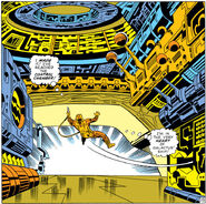 Mister Fantastic aboard the Galactus ship from Fantastic Four Vol 1 122