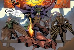 Six Men of Sinestry (Earth-803) from Spider-Man 2099 Vol 1 8 001