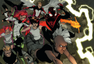 X-Men (Earth-1610) and Miles Morales (Earth-1610) from All-New X-Men Vol 1 35