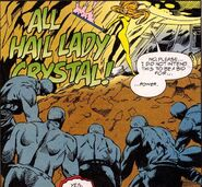 Crystalia Amaquelin (Earth-616) hailed as queen of the Alpha Primitives from Avengers Unplugged Vol 1 6
