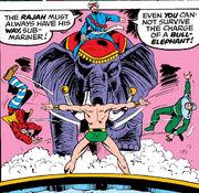 Eliot Franklin (Clown), Jack Pulver, Kabir Mahadevu, Namor McKenzie (Earth-616) from Super-Villain Team-Up Vol 1 8
