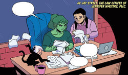Law Offices of Jennifer Walters, PLLC (Earth-616) from Patsy Walker, A.K.A. Hellcat! Vol 1 7 001
