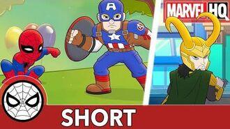 Cap and Spidey Unwrap the Truth! Marvel Super Hero Adventures - Happy Birthday SHORT